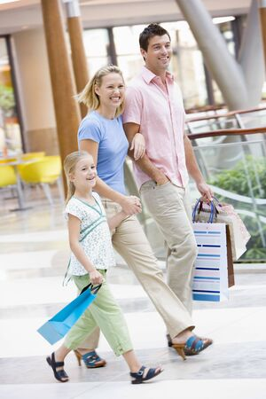 Family in shopping mall photo