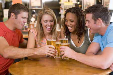 Group Of Friends In Bar Stock Photo - 2901746