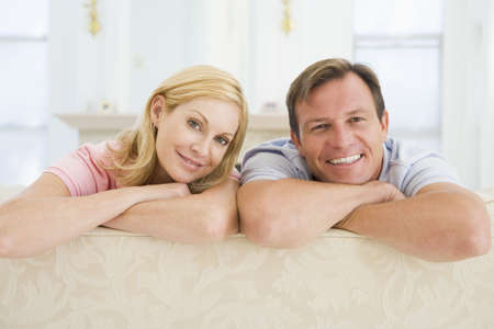 Couple relaxing in lounge Stock Photo - 2901556