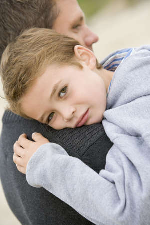 Son giving Father cuddle Stock Photo - 2900999