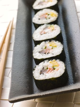 cutouts: Large Spiral Rolled Sushi