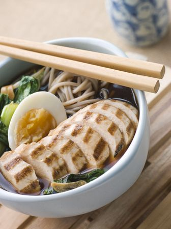 cutouts: Chargrilled Chicken Soba Noodle and Miso Soup
