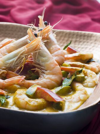 malai: Malai King Prawn Curry Stock Photo