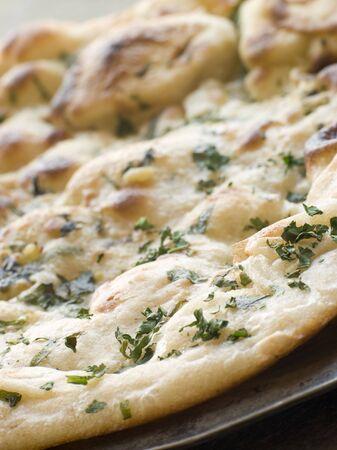 cilantro: El ajo y el cilantro pan naan