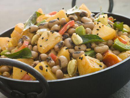 eyed: Lobia Aloo- Black Eyed Bean and Potato Curry Stock Photo