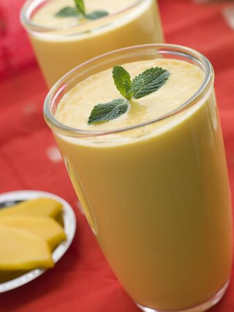 Glasses of Mango Lassi Stock Photo - 3131694