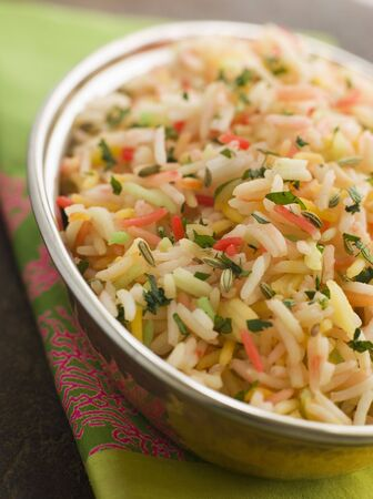 Three Coloured Basmati Pilau Stock Photo - 3131766