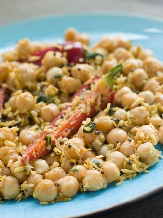 cutouts: Chick Peas and Coconut with Chilli