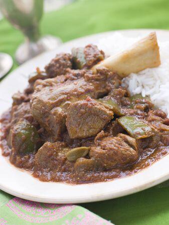 shank: Lamb Shank Rogan Josh Gosht with Plain Basmati Rice