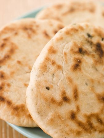 Plate of Plain Naan Breads Stock Photo - 3132330