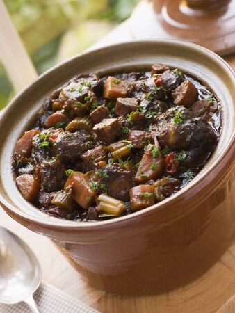 noone: Oxtail Stew Stock Photo