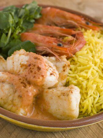 noone: Rana Saute di gamberetti e riso con pimento Crema