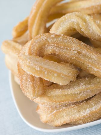 churros: Plate of Churros