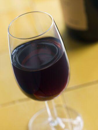 sherry: Glass of Sweet Sherry Stock Photo