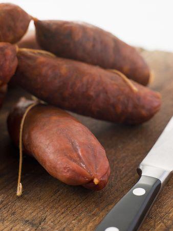 chorizo: Strings of Chorizo Sausage