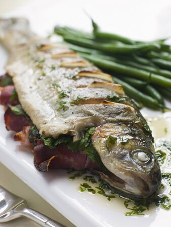 Whole River Trout with Jamon and Herb Butter photo