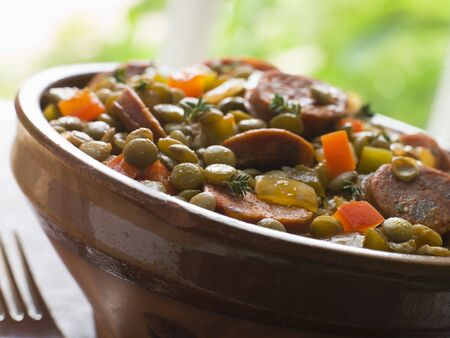 Green Lentil and Chorizo Sausage Stew photo