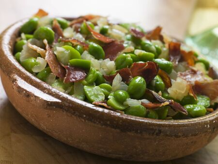 Broad Beans and Ham- Jamon au Favas photo