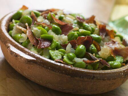 noone:  Broad Beans and Ham- Jamon au Favas
