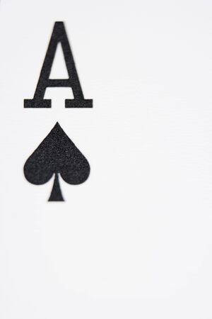 gambling parlour: Ace of spades playing card (close up)