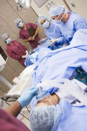Patient undergoing egg retrieval procedure photo