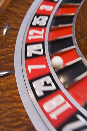 parlours: Roulette game wheel (close upblur)