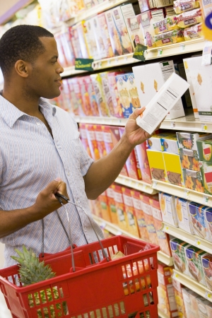 Man shopping at grocery store Stock Photo - 3226683