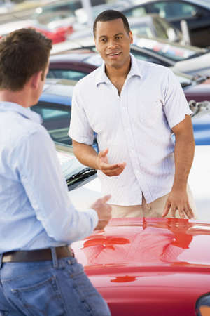 motorcars: Man shopping for a new car