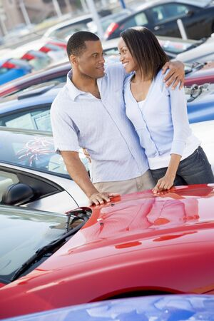 Young couple shopping for a new car Stock Photo - 3203206