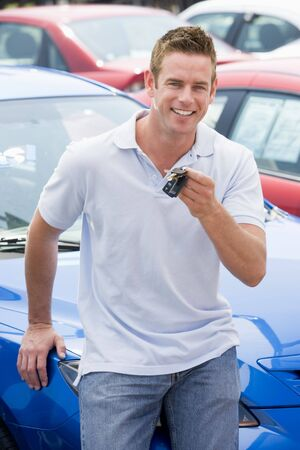 Man shopping for a new car Stock Photo - 3203031