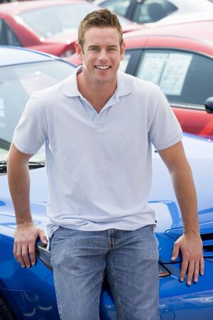 Man shopping for a new car Stock Photo - 3203708