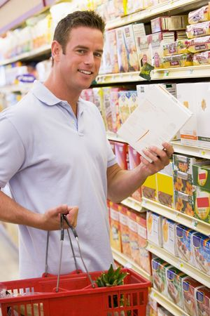 Man shopping at grocery store Stock Photo - 3226677