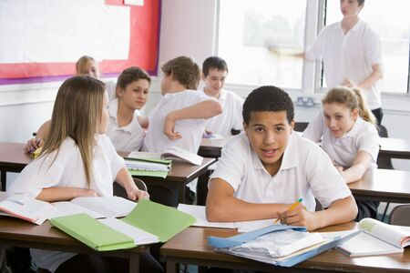 Secondary school students in a classroom photo