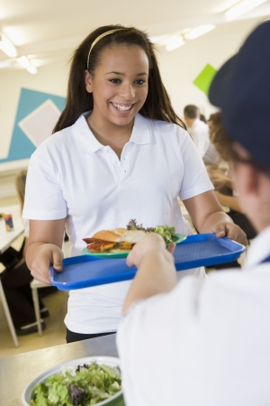 Student having lunch in dining hall Stock Photo - 3204074