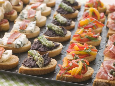 крупные планы: Selection of Crostini