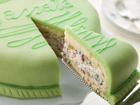 Slice of Cassata Cake photo