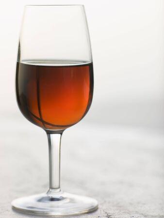 alcohol series: Glass of Sweet Marsala