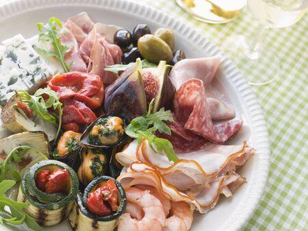 antipasto platter: Platter of Antipasto