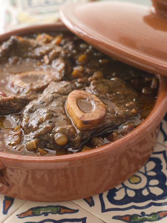redwine: Osso Bucco alla Milanaise Stock Photo