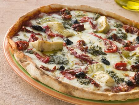 closeups: Roasted Vegetable Pizza