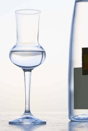 alcohol series: Glass of Grappa Stock Photo