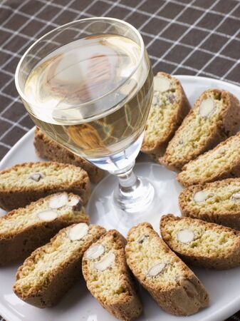 Hazelnut Cantuccini Biscotti with Dessert Wine photo