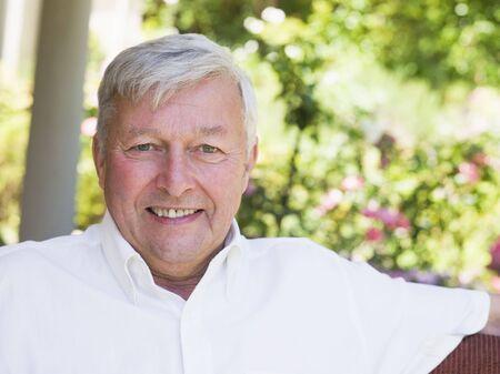 golden years series: Senior man sitting outdoors