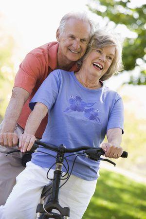 Senior couple on a bicycle Stock Photo - 3177509