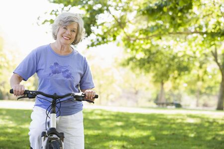 golden years series: Senior woman on a bicycle