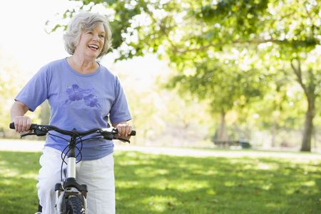 Senior woman on a bicycle Stock Photo - 3177032