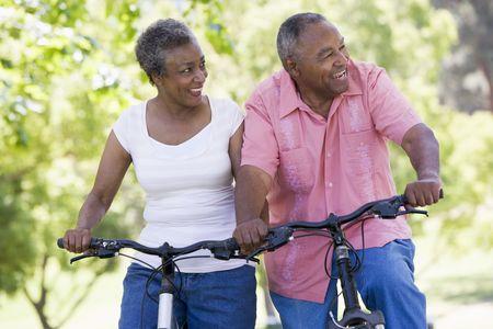 Senior couple on bicycles Stock Photo - 3177201