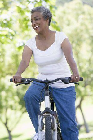 Senior woman on a bicycle Stock Photo - 3177130