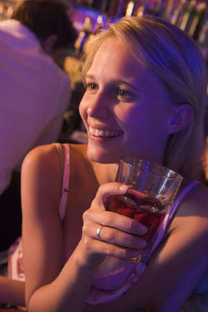 Young woman in a bar Stock Photo - 3205287