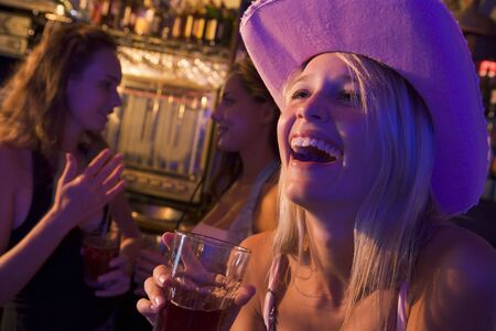 Young woman in a bar Stock Photo - 3207365